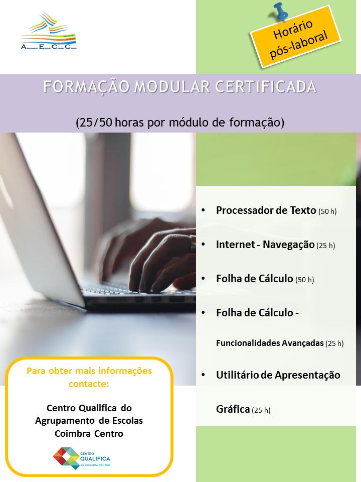 formação modular certificada em Coimbra