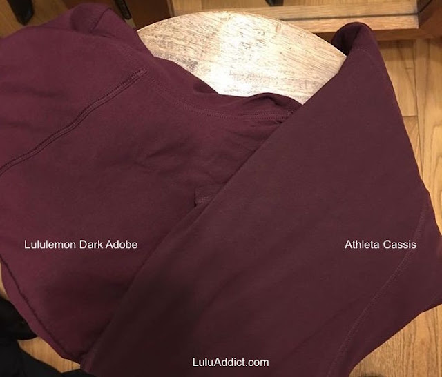 athleta-cassis lululemon dark-adobe