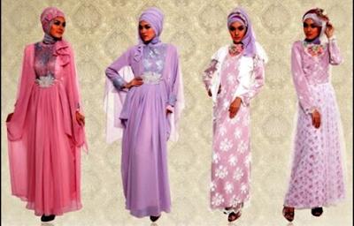 gaun pesta muslim mewah dan elegan