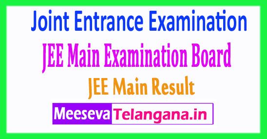 Joint Entrance Examination JEE Main Result 2018