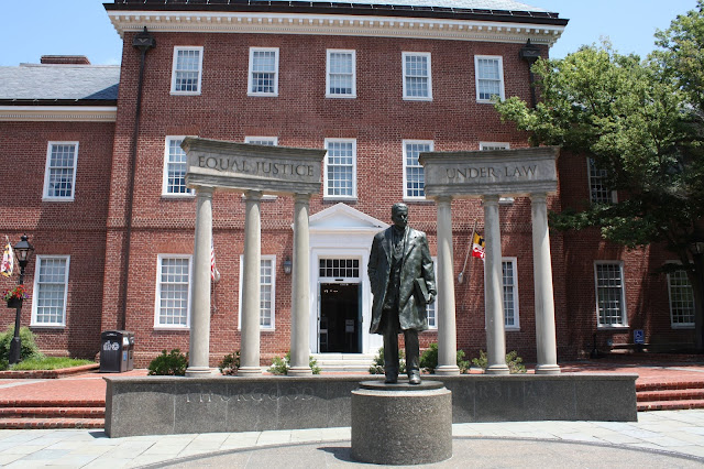 Thurgood Marshall Memorial at the Maryland State House in Annapolis