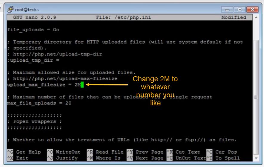 Change Upload Max File Size Limit MySQL
