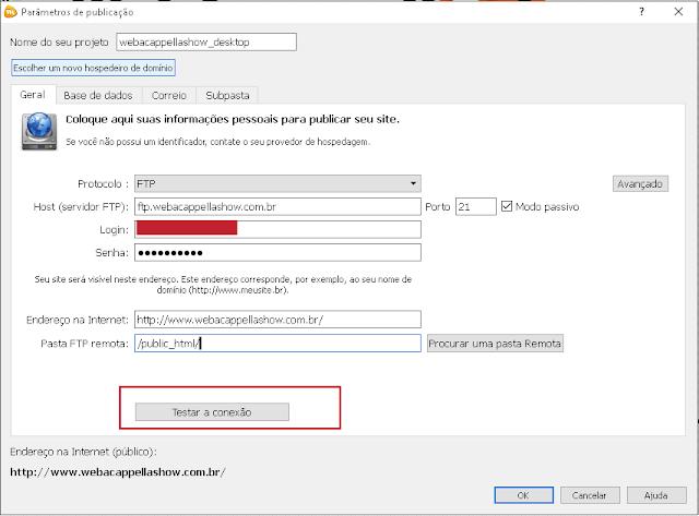 Configurar ftp webacappella