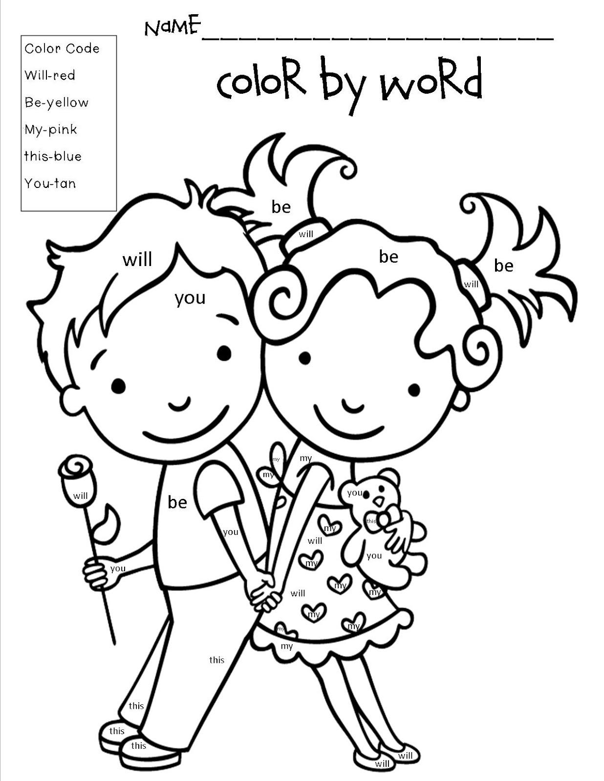 valentine\'s day coloring pages for kindergarten | Mrs. Bohaty's Kindergarten Kingdom: February 2013