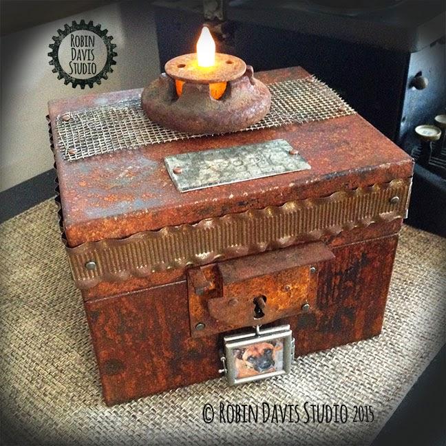 Custom memorial Pet Urn - Keepsake box - Robin Davis Studio