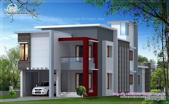 Contemporary house in Kozhikode