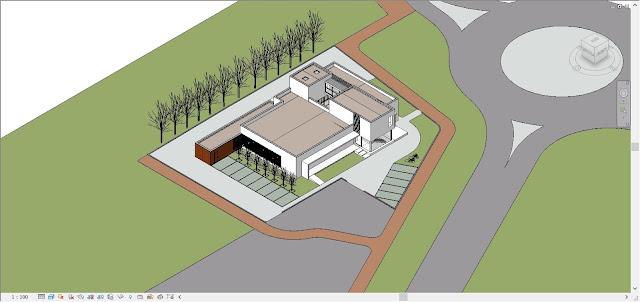 Revit model of Studio Santi building