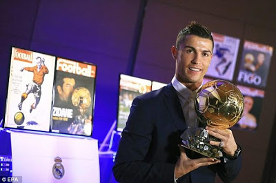 Ronaldo says he's always considered himself different from others but didn't expect to win four balon d'ors