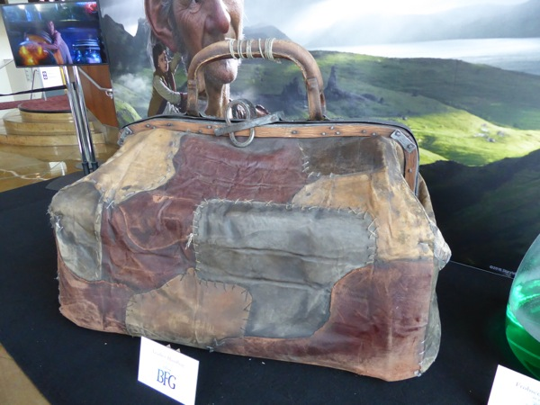 The BFG giant leather handbag prop
