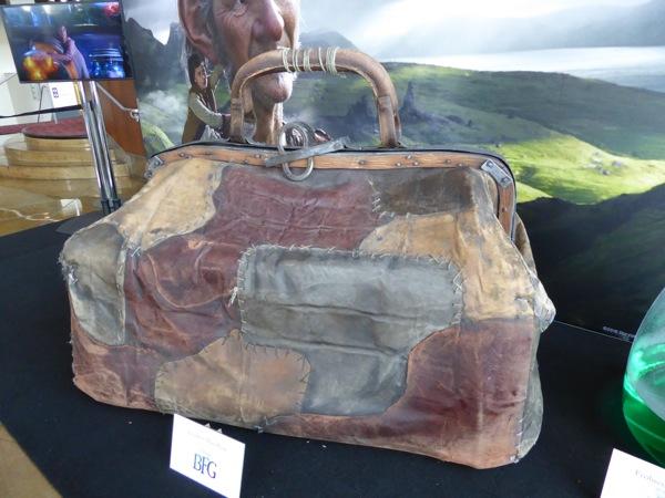 The BFG giant leather handbag prop