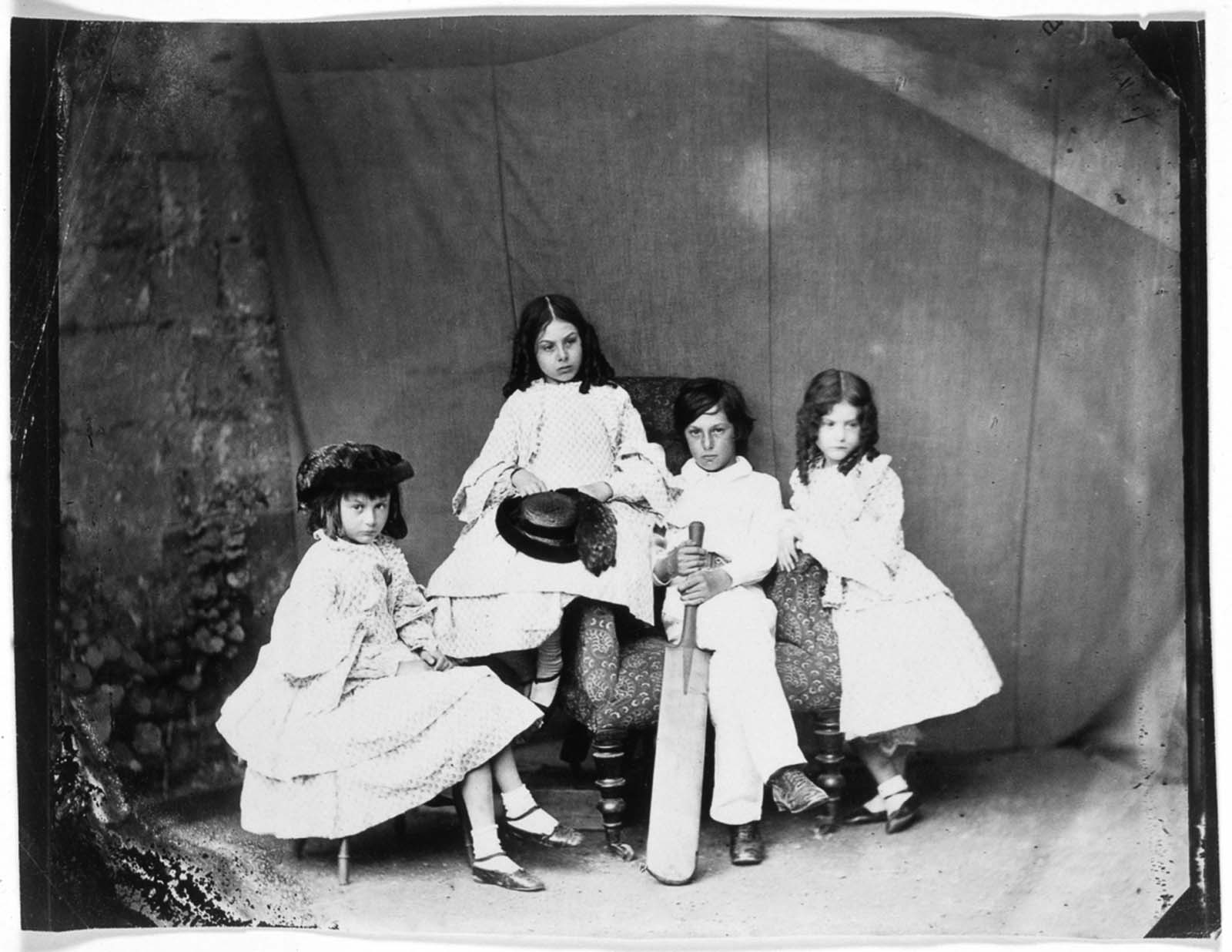 Alice, Ina, Harry and Edith Liddell. June, 1860.