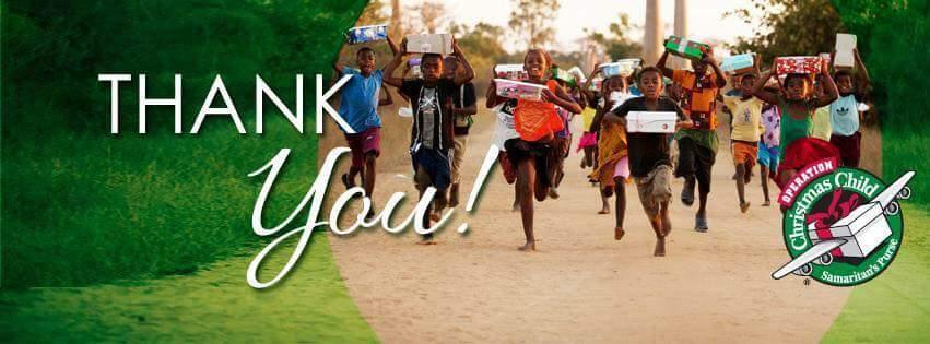 Thank You Card from Samaritans Purse