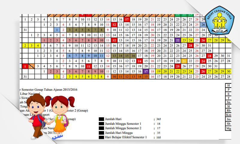 Kalender Pendidikan (KALDIK) PAUD Tahun Pelajaran 2016-2017