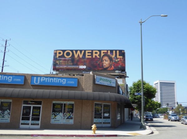Henrietta Lacks Powerful Emmy billboard
