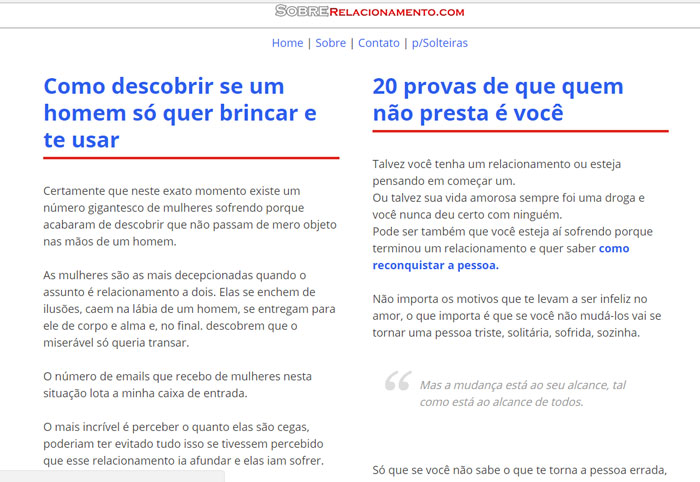 blog sobrerelacionamento.com