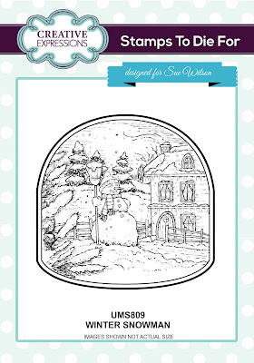 Creative Expressions Stamps To Die For Winter Snowman UMS809