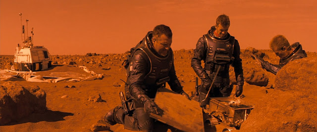 Astronauts and Sojourner rover from Red Planet movie