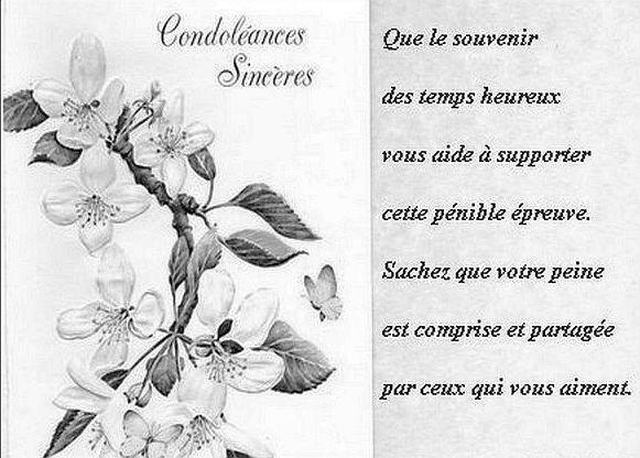 Gut gemocht Carte de condoléances gratuites à imprimer ~ Message de  BH19
