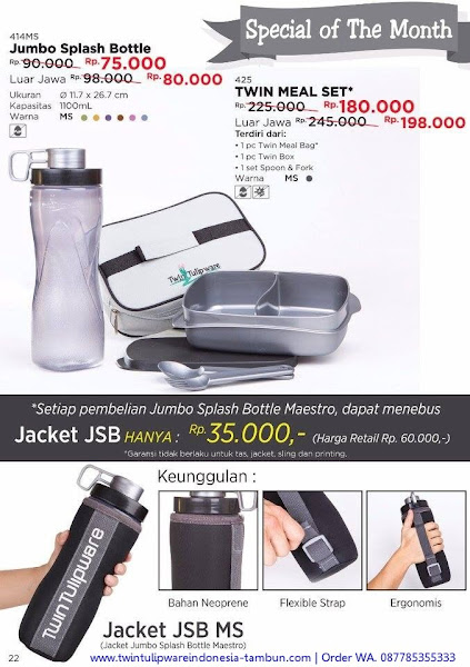 Promo Spesial November 2017, Jumbo Splash Bottle, Twin Meal Set, Jacket JSB