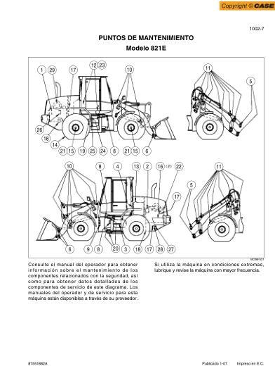 case 821 loader service manual