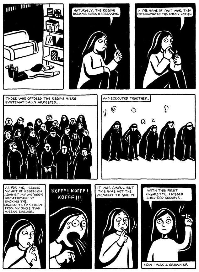 Read Chapter 15 - The Cigarette, page 115, from Marjane Satrapi's Persepolis 1 - The Story of a Childhood