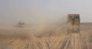 الحشد الشعبي  يدمر عجلة مسلحة لداعش بإحباط محاولة تسلل لهم على الحدود العراقية السورية