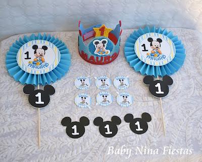 kit cumpleaños mickey baby