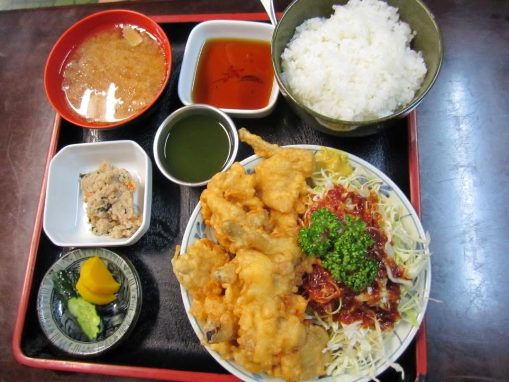 Chicken Tempura Set Tori Tempura Teishoku Miki 鳥天ぷら定食 食事処味喜