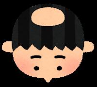 薄毛のイラスト4