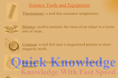 Scientific tools and their uses