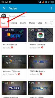 pilihan channel live tv di BBM
