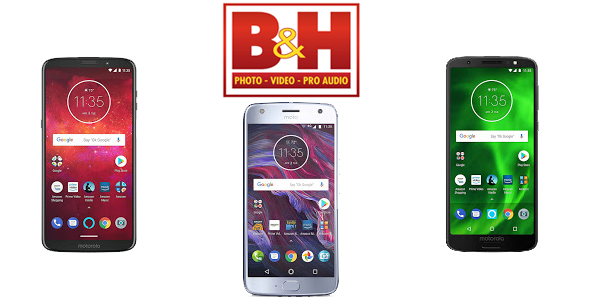 Various Motorola handsets discounted at B&H