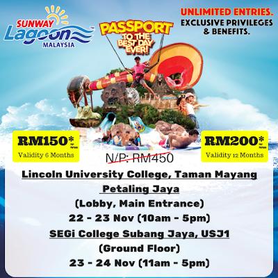 Sunway Lagoon Malaysia Annual Pass Passport Discount Promo