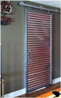 model pintu geser minimalis besi