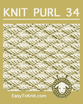 #Knit Little Pyramids stitch, Easy Knit Purl Pattern #easytoknit