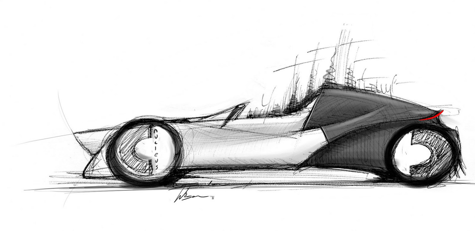 Wilson Design Concept Car Sketch 2 Seat Roadster