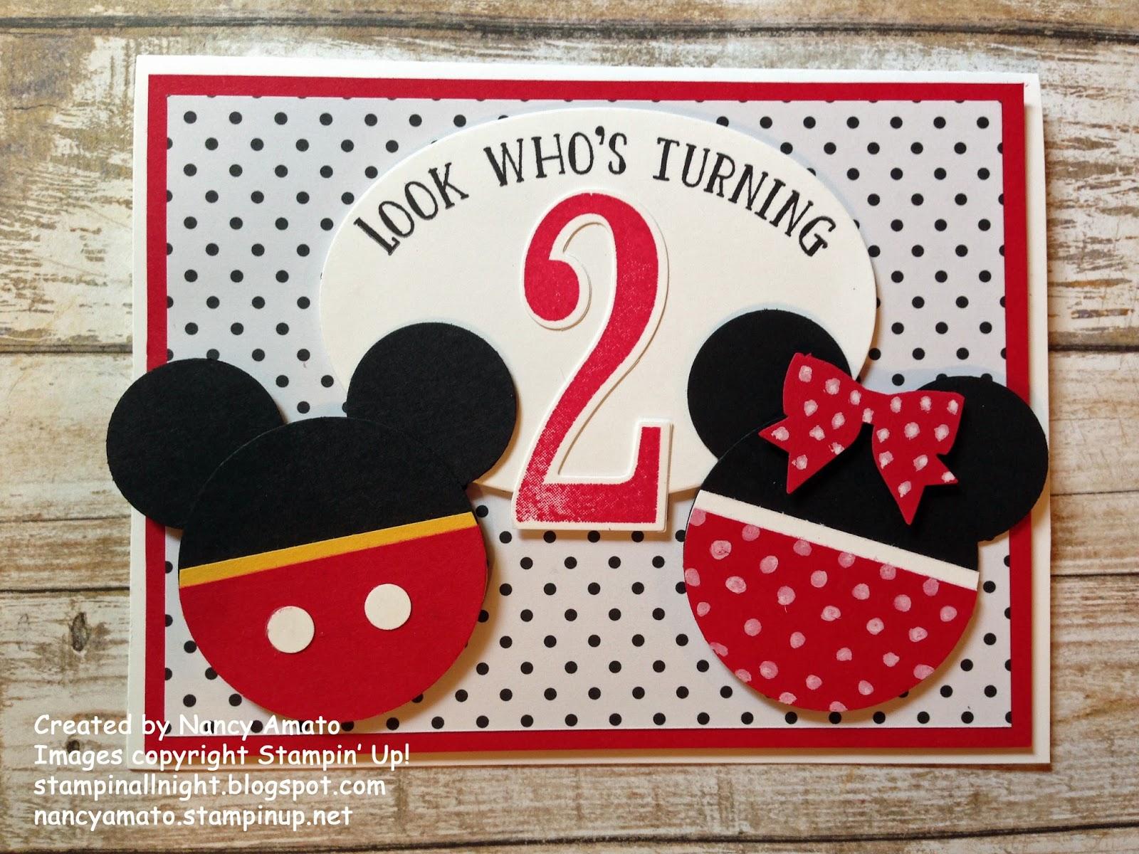 Stampin' All Night: Meeska, Mooska, Mickey Mouse!