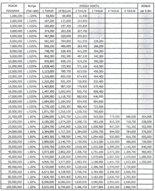Plafon dan Tabel Pinjaman BRI 2021 - Safepaydayloans.org