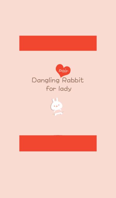 Dangling pair rabbit (lady)
