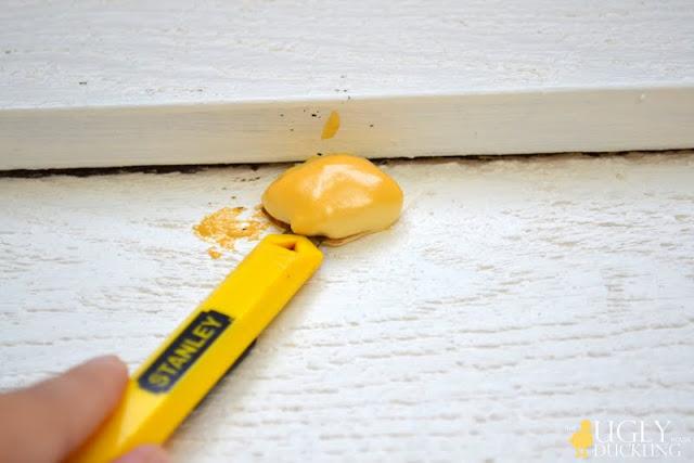 trimming exterior hole sealant