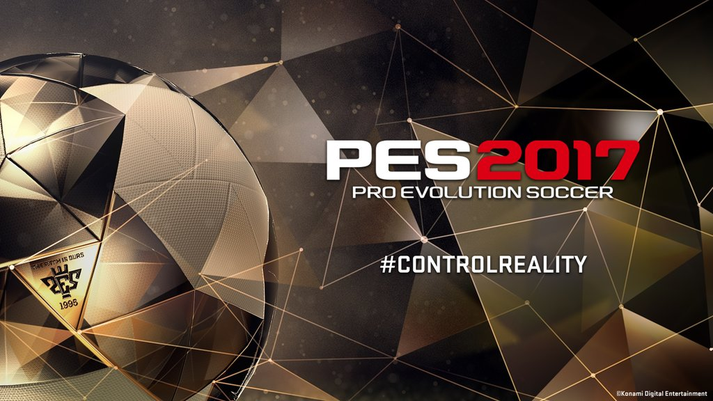 Konami Pro Evolution Soccer PES2017 #ControlReality [image by @officialpes]