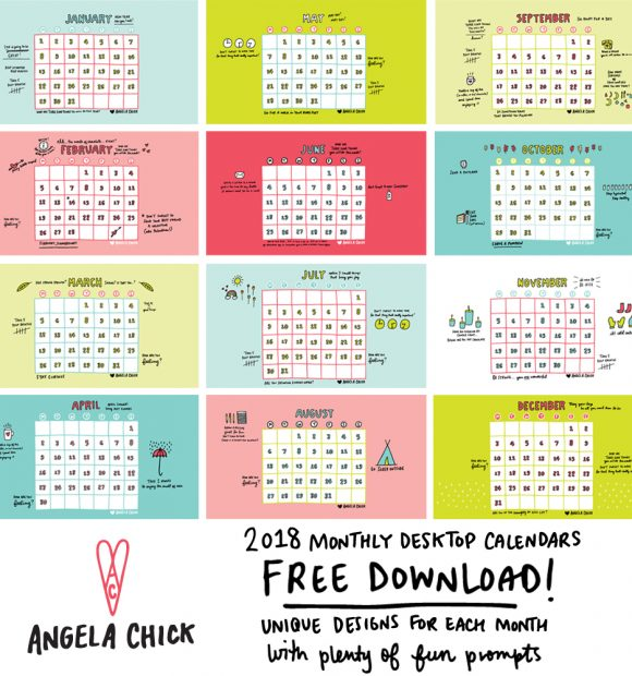 Your FREE Calendar Download For September 2018 - keep it simpElle