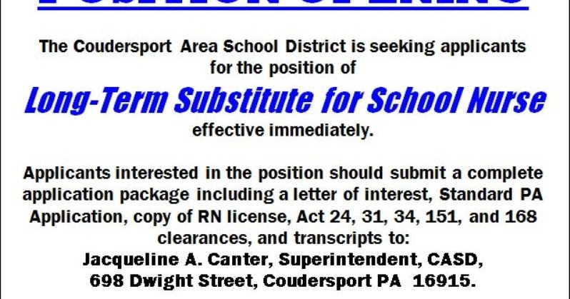 how to become a substitute school nurse in nj