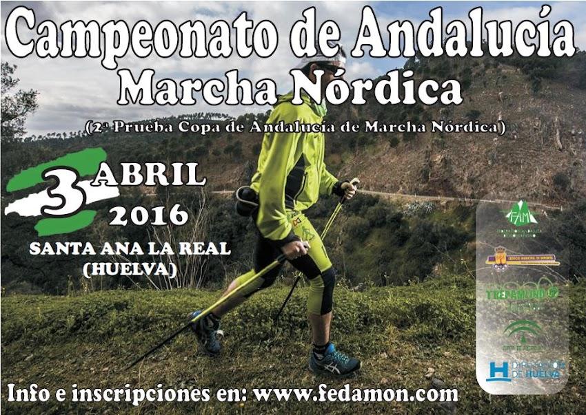 CAMPEONATO DE ANDALUCÍA DE MARCHA NÓRDICA - SANTA ANA LA REAL (HUELVA)
