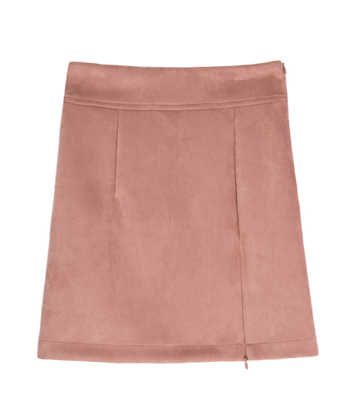 Zip-Detailed Mini Skirt