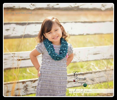 Spring Sparkle Cowl by Crafting Friends Designs