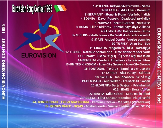 Eurovision Song Contest Music: EUROVISION SONG CONTEST 1995  Eurovision Song...