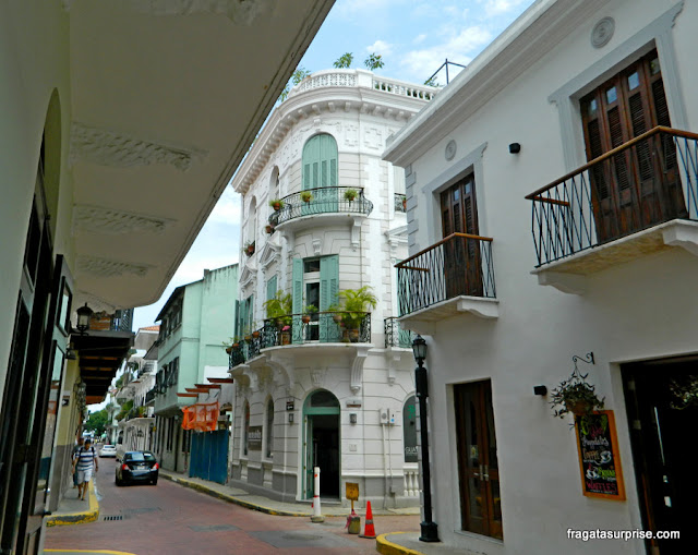 Rua do Casco Viejo da Cidade do Panamá