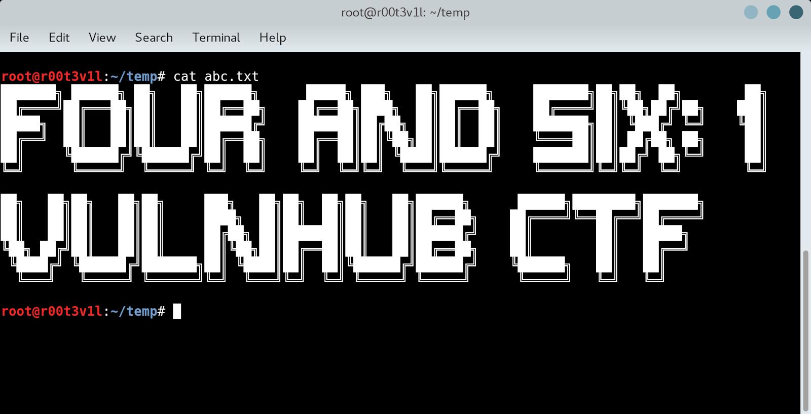 FourAndSix: 1 CTF VULNHUB Walkthrough/Writeup - The Hackers