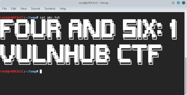 FourAndSix: 1 CTF VULNHUB Walkthrough/Writeup